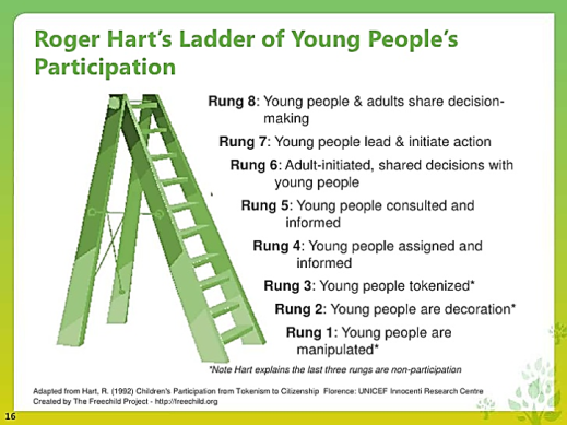 Image result for hart's ladder of youth participation