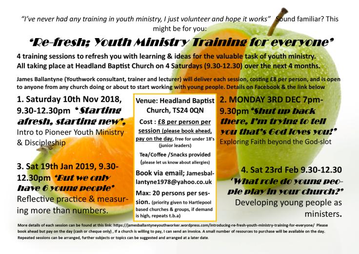 Hartlepool Youthwork Session poster v2
